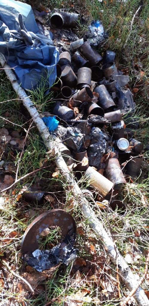 Müllleben statt Stillleben im Wald